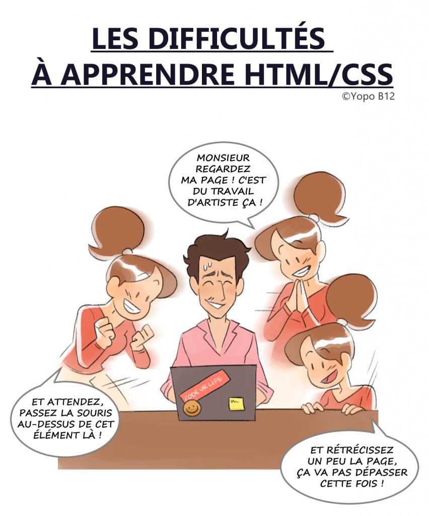 Les difficultés à apprendre HTML/CSS